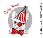 Funny Dog In A Clown Hood  Tie...