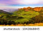 valley in kulukumalai in munnar ... | Shutterstock . vector #1042868845