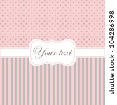Greeting Card In Pink And Grey...
