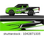 truck graphic background kit... | Shutterstock .eps vector #1042871335