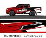 truck graphic background kit... | Shutterstock .eps vector #1042871338