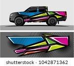 truck graphic background kit... | Shutterstock .eps vector #1042871362