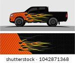 truck graphic background kit...   Shutterstock .eps vector #1042871368