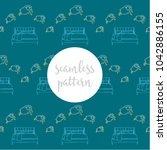 repeating seamless pattern of... | Shutterstock .eps vector #1042886155