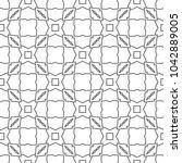 seamless geometric ornamental... | Shutterstock .eps vector #1042889005