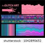 glitch  low fidelity  lo fi... | Shutterstock .eps vector #1042890652