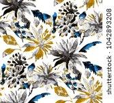 watercolor seamless pattern... | Shutterstock . vector #1042893208