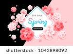 spring sale stylish background...   Shutterstock .eps vector #1042898092