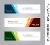 abstract modern banner... | Shutterstock .eps vector #1042899742