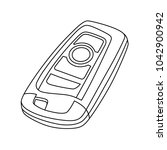 vector remote car key line...   Shutterstock .eps vector #1042900942