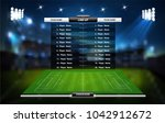 football or soccer playing... | Shutterstock .eps vector #1042912672