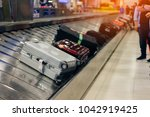 suitcase or luggage with... | Shutterstock . vector #1042919425