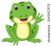cute frog cartoon | Shutterstock . vector #1042927972