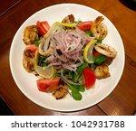 shrimp salad. various... | Shutterstock . vector #1042931788