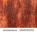 old grungy and dirty red rusty... | Shutterstock . vector #1042933192