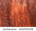 old grungy and dirty red rusty... | Shutterstock . vector #1042933198