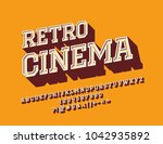 vector rotated sign retro... | Shutterstock .eps vector #1042935892