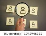job recruitment and job hiring...   Shutterstock . vector #1042946332