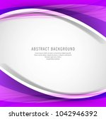 abstract creative colorful wave ... | Shutterstock .eps vector #1042946392
