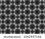 ornament with elements of black ...   Shutterstock . vector #1042957156