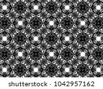 ornament with elements of black ...   Shutterstock . vector #1042957162