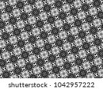 ornament with elements of black ...   Shutterstock . vector #1042957222