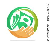 icon logo for fundraising ... | Shutterstock .eps vector #1042960732