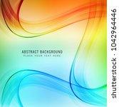 modern colroful shiny stylish... | Shutterstock .eps vector #1042964446
