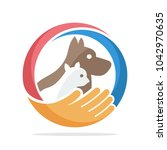 Stock vector logo icon for pet care 1042970635