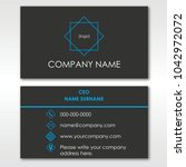 a neatly designed business card ... | Shutterstock .eps vector #1042972072