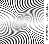 abstract warped diagonal... | Shutterstock .eps vector #1042981372