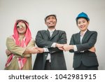 business team construction... | Shutterstock . vector #1042981915