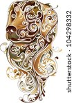 abstract dog head 1 | Shutterstock .eps vector #104298332
