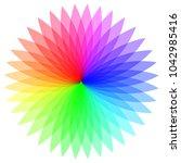 rainbow color wheel. colorful...   Shutterstock . vector #1042985416