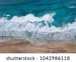 aerial view on the beach and... | Shutterstock . vector #1042986118