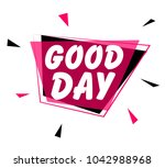 good day  greeting card or sign ... | Shutterstock .eps vector #1042988968