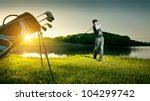 male golf player   Shutterstock . vector #104299742