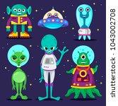 set of cartoon characters.... | Shutterstock .eps vector #1043002708