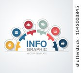 vector infographic template for ... | Shutterstock .eps vector #1043003845
