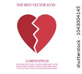 heart broken vector icon eps 10. | Shutterstock .eps vector #1043004145
