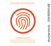 fingerprint vector icon eps 10. ... | Shutterstock .eps vector #1043004148