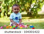 portrait of a little african... | Shutterstock . vector #104301422