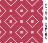 red and pale pink geometric... | Shutterstock .eps vector #1043018146