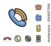 vector basic telephone icon... | Shutterstock .eps vector #1043027356