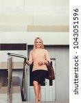 business casual look  office...   Shutterstock . vector #1043051596