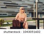 beautiful business woman...   Shutterstock . vector #1043051602