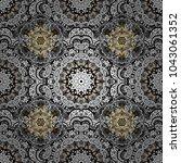 seamless classic vector golden... | Shutterstock .eps vector #1043061352