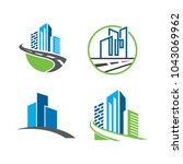 set of building infrastructure... | Shutterstock .eps vector #1043069962