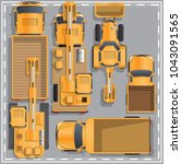 construction machinery. view... | Shutterstock .eps vector #1043091565