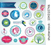 set of health care badges and... | Shutterstock .eps vector #104310746